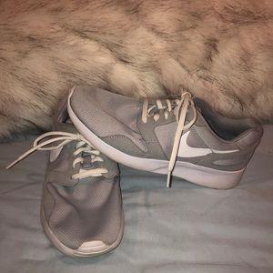 Gray Nike sneakers!